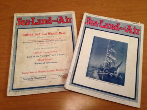 SEA LAND AND AIR MAGAZINE. Vintage The Australian National Monthly. Sailing Ship
