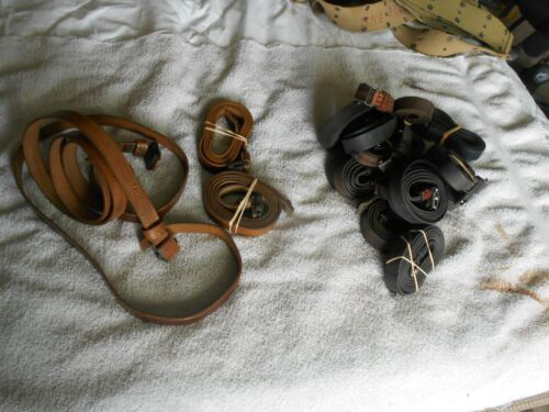 original WW2 german MP STG black leather sling with beltkeeper & studOther German WWII Orig. Items - 4078