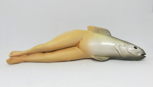 Rene Magritte The Collective Invention Fish Woman Resin Sculpture