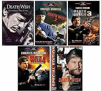 Death Wish 1 2 3 4 5 DVD Collection Charles Bronson New and Sealed