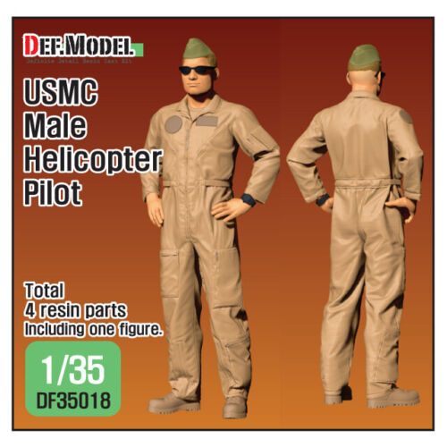 DEF Model 1/35 USMC Male Helicopter Pilot