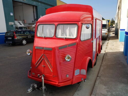 vintage citroen look food trailer with draw bar