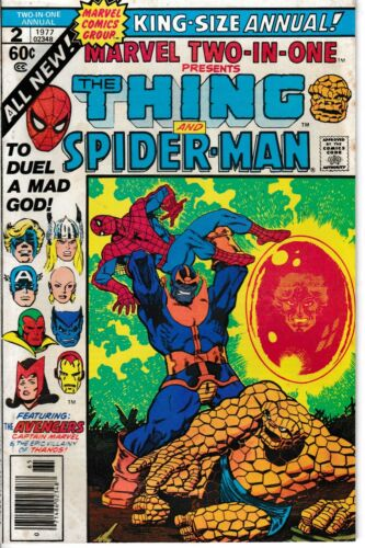 MARVEL TWO-IN-ONE ANNUAL 2 1977 THE THING & SPIDER-MAN Fine