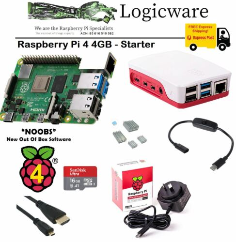 Raspberry Pi 4 Model B 4GB Starter Pack | Great Set Of Accessories As Pictured