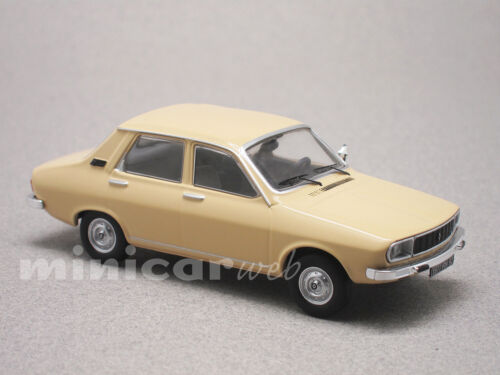 RENAULT 12 FACELIFT BEIGE, voiture miniature 1/43e ODEON 040