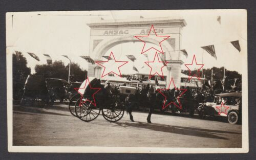 Early Photo opening of The ANZAC Arch Adelaide South Australia 1919 WWI