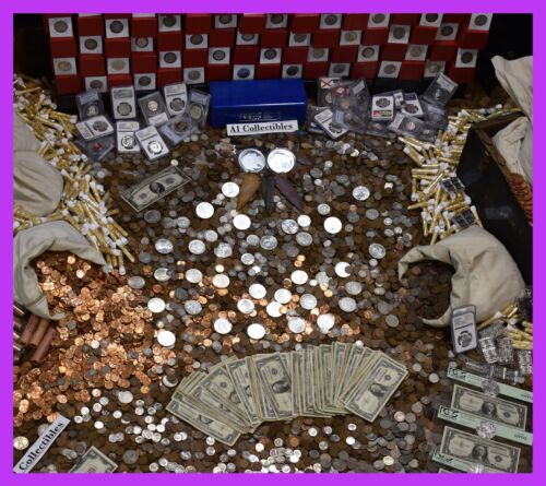 🔥MASSIVE ESTATE SALE GOLD .999 SILVER BULLION RARE OLD COINS MONEY MIXED LOT 🔥 <br/> BUY 5 SAVE $5! RARE TREASURES AT UNBEATABLE PRICES! $$$