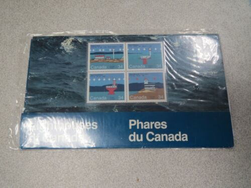 Canada - Phares bloc-feuillet 4 timbres NEUF LIGHTHOUSES OF CANADA STAMPS *