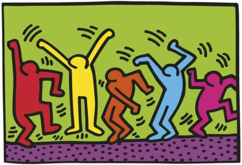 """HARING, KEITH - UNTITLED, 1987 (DANCE) - ART PRINT POSTER 18"""" X 26"""" (2696-4)"""