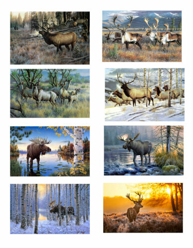 Modern Home Decor HD Printed on Canvas Animals Elk Oil Painting Wall Art Picture