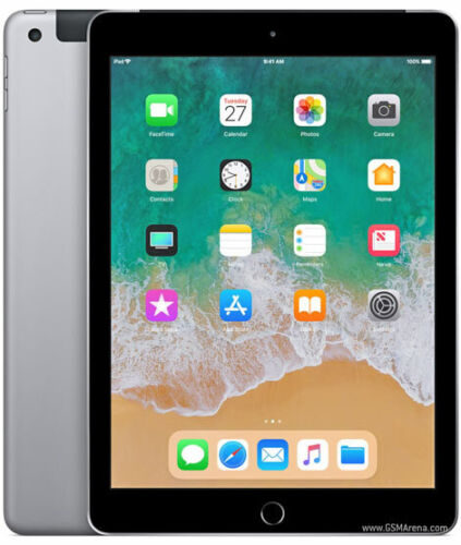 iPad 6th Gen. 32GB, Wi-Fi + Cellular (Unlocked), 9.7in Space Grey Support Pencil