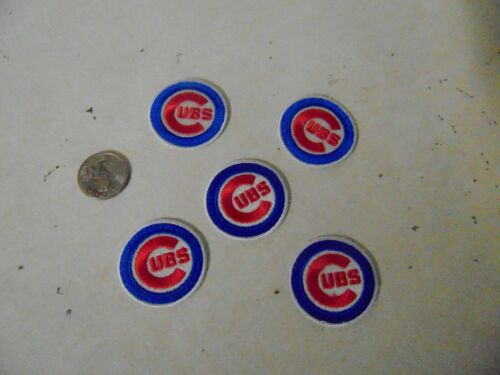 Nfl Football Patch Sew On Set Of 5 Chicago Cubs