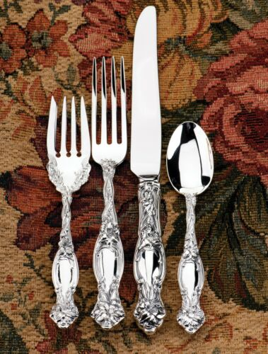 Frontenac Sterling Silver by International NEW 4 piece Dinner Setting with Box