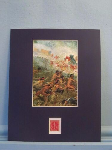 General Braddock defeated at Fort Duquesne honored by his own stamp