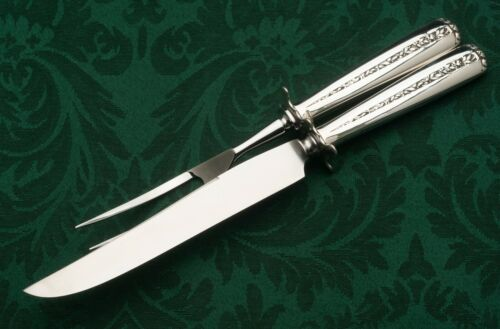 """Rambler Rose by Towle Sterling Silver 2 piece Large Carving Set 13.25"""""""