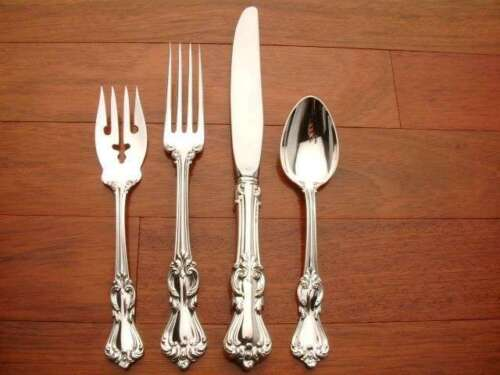 Marlborough Sterling Silver by Reed & Barton 4pc Lunch SIZE Setting, Modern