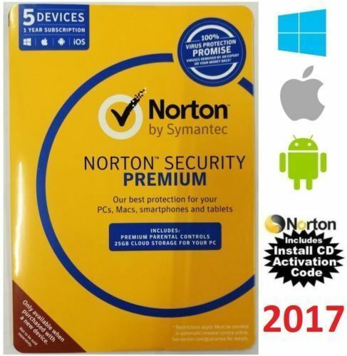 Symantec Norton internet security standard premium 1 2 3 5 PC AntiVirus 2017