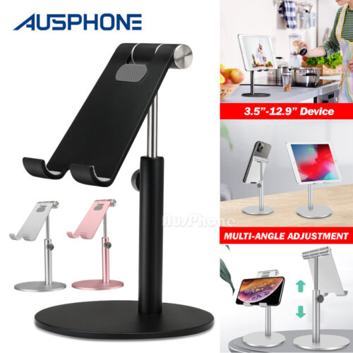 Adjustable Aluminum Tablet Stand Holder Desk Table Mount For iPad iPhone Samsung
