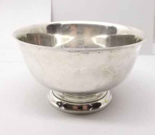 Vtg Sterling Silver Gorham Paul Revere Footed Bowl Dish No 41657 Reproduction