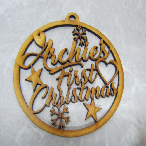 Laser Cut Christmas Bauble - Baby's First Christmas Personlised
