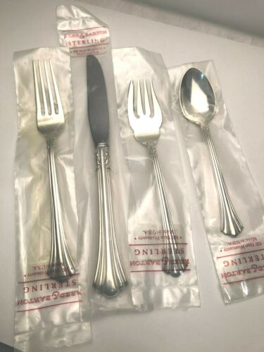 18th Century by Reed & Barton Sterling Silver 4 piece Place Setting, in Wrappers