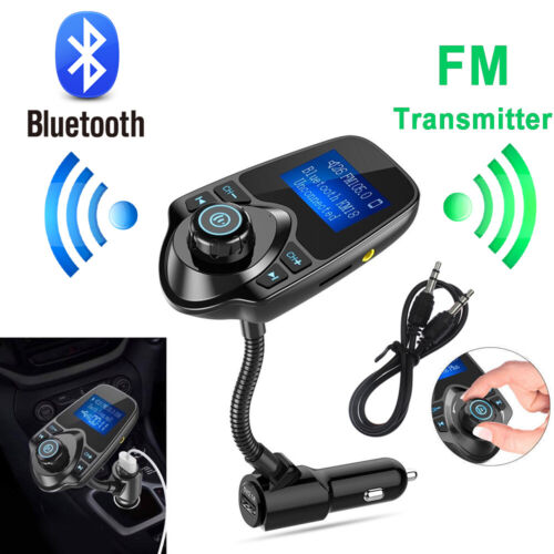 NEW Wireless Bluetooth Auto Handsfree Car AUX Audio Receiver Adapter USB Charger