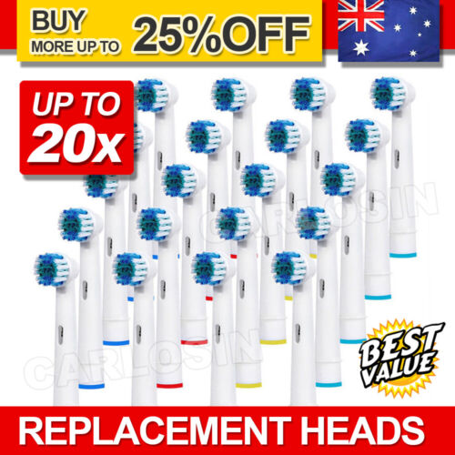 Electric Toothbrush Heads Oral B Compatible Replacement Brush Precision Clean