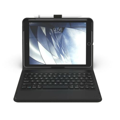 Zagg Messenger Folio Tablet Keyboard / Case for Apple iPad 10.2 - Charcoal Black