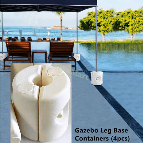 Gazebo Marquee Tent Leg Post Fillable Water Sand Weight Pod Anchor Base (4pcs)