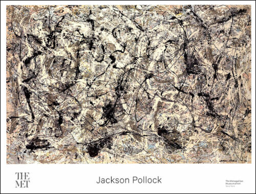 Jackson POLLOCK Untitled #28 Abstract Museum Poster 27 x 35