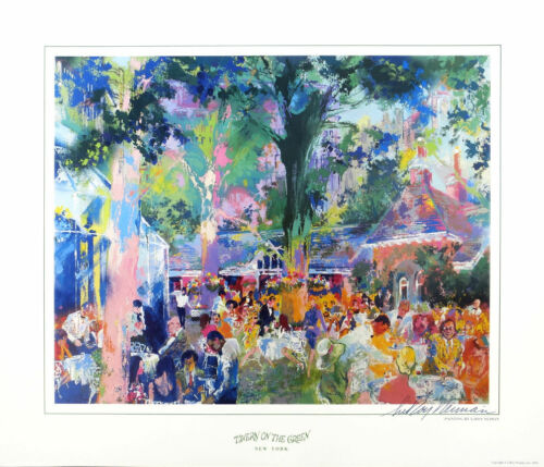 Leroy NEIMAN Tavern On The Green New York Signed Poster 19-3/4 x 23