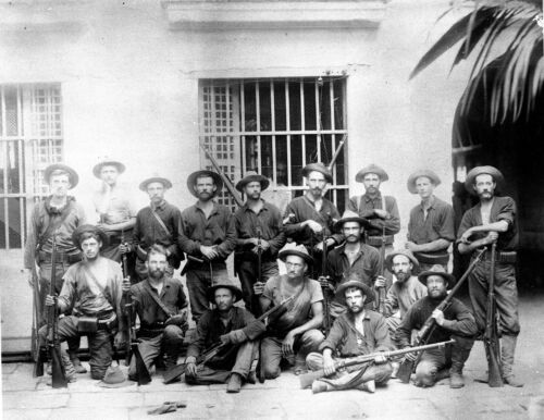 c1899 Philippine American War-Young's Scouts Army Soldiers 8 1/2 x 11 PhotoOriginal Period Items - 10952