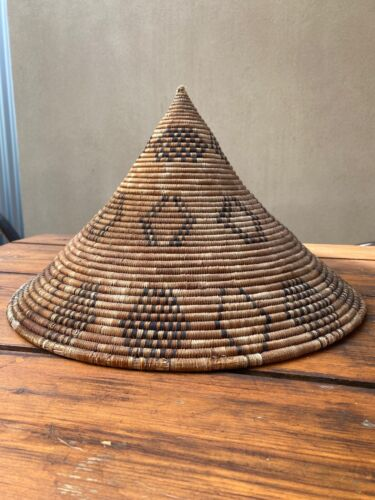 Superb Ethnographic Woven Hat Or Bowl New Guinea Africa Oceanic Considerable Age