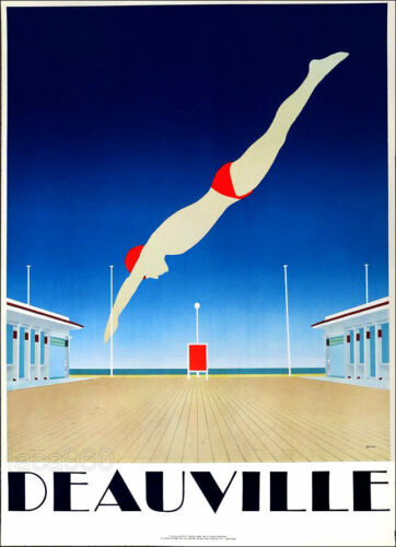 RAZZIA French Deauville Diver Vintage Poster 34-1/2 x 24