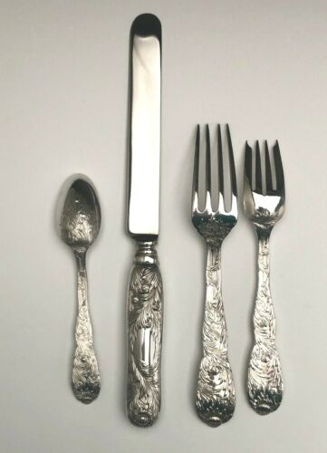 Chrysanthemum by Tiffany & Co. Sterling Silver 4 piece dinner size Place Setting