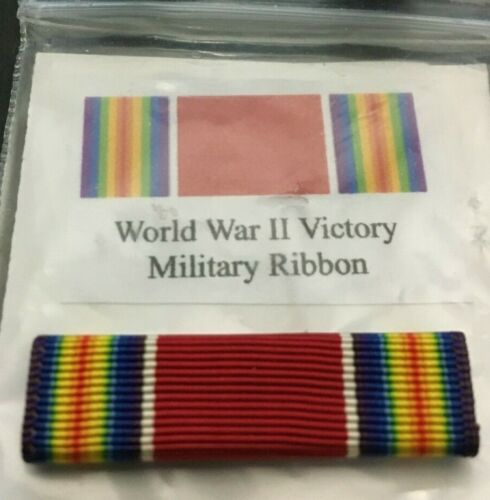 """U S MILITARY   RIBBON """" VICTORY  WWII """"  SINGLE MOUNT INCLUDEDOther Militaria (Date Unknown) - 66534"""