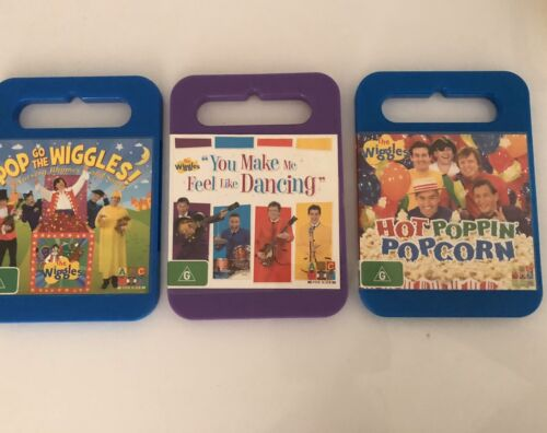 Wiggles Childrens Dvd's Bulk Lot X3 Popping Popcorn Pop Go To The Wiggles Ect