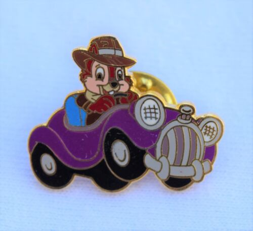 """Disney Pins AAA Travel Package Pin /""""Chip/"""" of Chip and Dale in Purple Car Pin"""