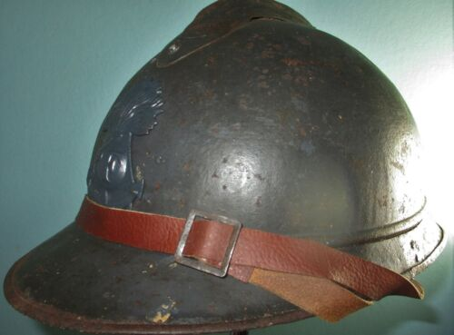 colonial infantry WW French M15 Adrian helmet casque stahlhelm casco elmo 胄 шлемFrance - 13964
