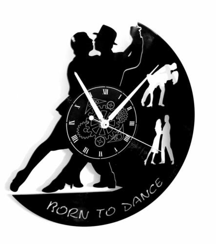 VINYL RECORD WALL CLOCK - Dance Dancers Tango Walzer - Gift Home