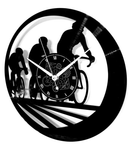 Vynil Record Wall CLOCK - Cycling Sport Race Bicycle Bicycling - Gift Bike