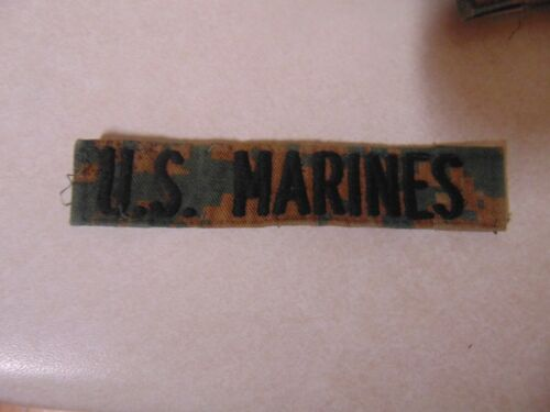 Military Patch Us Name Tape Tag Sew On Marpat Combat Used With Words Us Marines