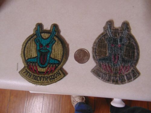 Military Patch Sew On Older Us Air Force 7th Tactical Fighter Squadron Green