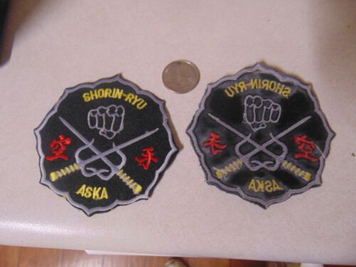 Patch Sew On Karate I Believe Shorin Ryu Aska Approx 4 Inches