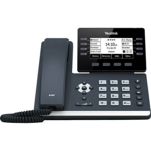 New Yealink Sip-T53w Ip Phone Black Wired Handset Lcd 8 Lines Wi-Fi SIP-T53W