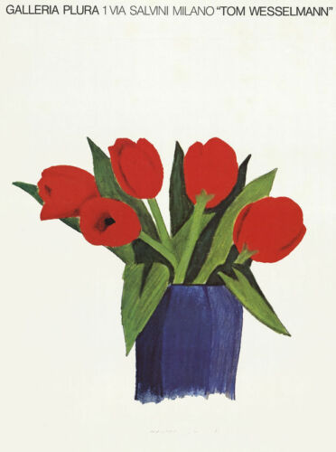 Tom Wesselmann Tulips In A Vase 1985 Exhibition Poster 27 x 20