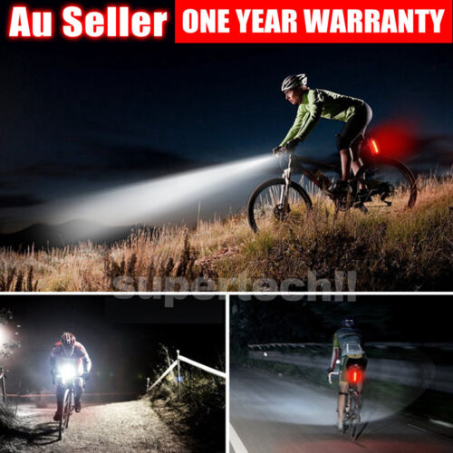 Rechargeable LED Bike Bicycle Light USB Waterproof Cycle Front Back Headlight <br/> ❤Front Torch +Tail Back Light❤Free&Fast Post❤AU Stock❤