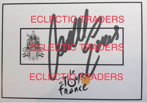 Cadel Evans SIGNED Tour de France cycling card. 2011 YELLOW JERSEY WINNER! PROOF
