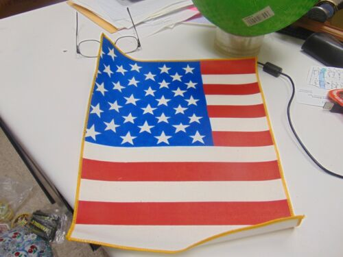 Patch Sew On Older American Flag Huge Over 12 Inches