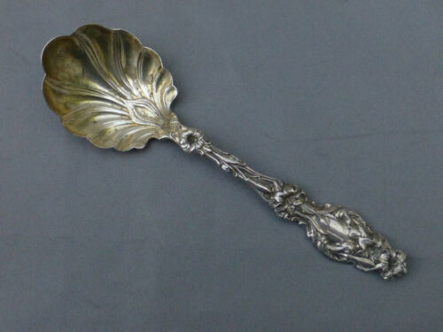 Sterling WHITING Small Bowl Shell Shaped Serving Spoon LILY Pat'd 1902 NO Mono